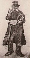 Orphan Man with Top Hat, Eating from a Plate, 1882, vangogh