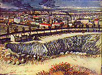 Outskirts of Paris near Montmartre, 1887, vangogh