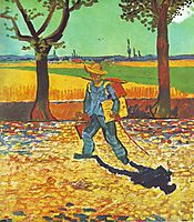 The painter on the road to Arles, 1888 (jul), vangogh