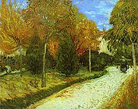 Path in the Park at Arles, 1888, vangogh