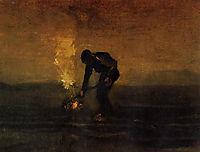 Peasant Burning Weeds , 1883, vangogh