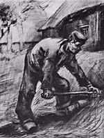 Peasant, Chopping, 1885, vangogh