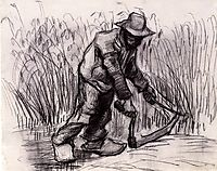 Peasant with Sickle, 1885, vangogh
