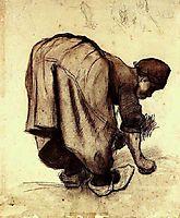 Peasant Woman Bending Over, 1885, vangogh