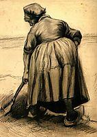 Peasant Woman Digging, 1885, vangogh