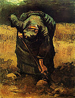 Peasant Woman Digging, 1885, vangogh