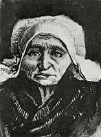 Peasant Woman, Head, c.1884, vangogh