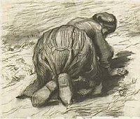 Peasant Woman, Kneeling, Seen from the Back, 1885, vangogh