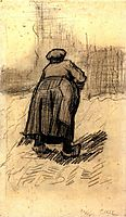 Peasant Woman Lifting Potatoes , 1885, vangogh