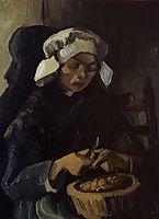 Peasant Woman Peeling Potatoes, 1885, vangogh