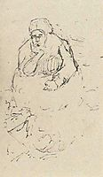 Peasant Woman, Sitting with Chin in Hand, 1885, vangogh