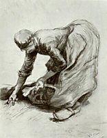 Peasant Woman, Stooping, 1885, vangogh