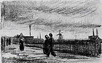 People Walking in Eindhoven, 1885, vangogh