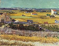 The plain of La Crau with the ruins of Arles Montmajour, 1888 (jun), vangogh