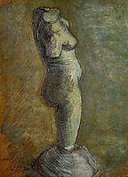 Plaster Statuette of a Female Torso, 1886, vangogh