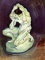 Plaster Statuette of a Kneeling Man, 1886, vangogh