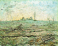 The Plough and the Harrow (after Millet) , 1890, vangogh
