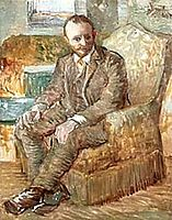Portrait of the Art Dealer Alexander Reid, Sitting in an Easy Chair, c.1887, vangogh