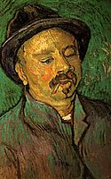 Portrait of a One-Eyed Man, 1888, vangogh
