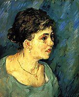Portrait of Woman in Blue, 1885, vangogh