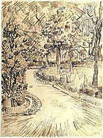 Public Garden with a Corner of the Yellow House, 1888, vangogh