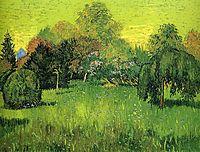 Public Park with Weeping Willow The Poet s Garden I, 1888, vangogh