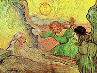 The Raising of Lazarus after Rembrandt, 1890, vangogh