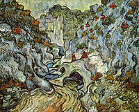 The ravine of the Peyroulets, 1889, vangogh