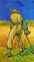 The Reaper after Millet, 1889, vangogh