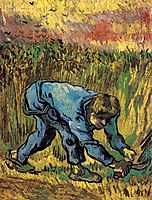 Reaper with Sickle (after Millet) , vangogh