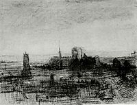 The Roofs of Paris and Notre-Dame, vangogh