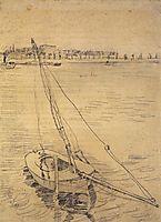 Sailing Boat on the Seine at Asnieres, 1887, vangogh