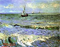 Seascape at Saintes-Maries, 1888, vangogh