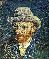 Self Portrait with Felt Hat, c.1887, vangogh