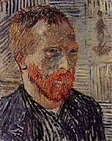Self-Portrait with a Japanese Print, 1887, vangogh