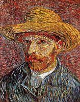Self-Portrait with Straw Hat, c.1887, vangogh