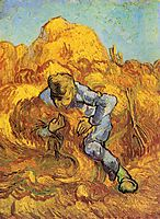 Sheaf-Binder, The after Millet, 1889, vangogh
