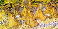 Sheaves of Wheat , 1890, vangogh
