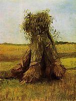 Sheaves of Wheat in a Field, 1885, vangogh