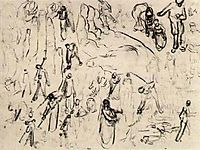 Sheet with Figures and Hands, vangogh
