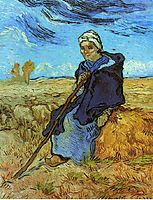 The Shepherdess (after Millet), 1889, vangogh