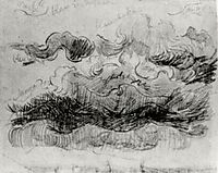 Sketch of Clouds with Colour Annotations, 1890, vangogh