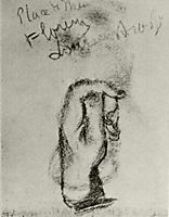 Sketch of a Left Hand , vangogh