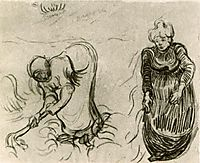 Sketch of Two Women, 1890, vangogh