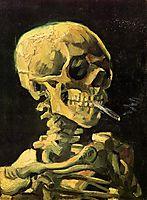 Skull with Burning Cigarette, 1885, vangogh