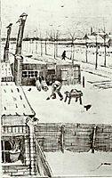 Snowy Yard, 1883, vangogh