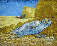 The sofa or napping, 1890, vangogh
