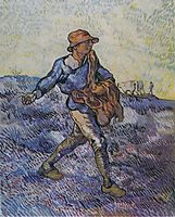 The Sower (after Millet), 1889, vangogh