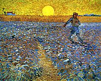 The Sower (Sower with Setting Sun), 1888, vangogh