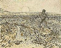 Sower with Setting Sun, 1888, vangogh